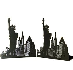 Winterworm One Pair Fashion Modern European American Architecture Landmark Theme Style Thickening Iron Library School Metal Bookends Book End Perfect MOther's Day Gift New