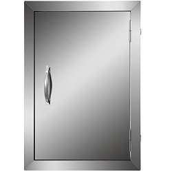 Double Wall Mophorn Bbq Access Door Cutout 20 Height X 14 Width Inches Bbq Island Door Brushed Stainless Steel Perfect For Outdoor Kitchen Or Bbq Island