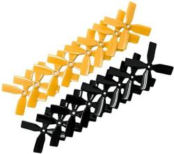 USA Raycorp 3030 4-BLADES 3X3X4 Propellers. 16 Pieces 8 Cw 8 Ccw Black Yellow Genuine & 3-INCH Quadcopter And Multirotor Props + Battery Strap