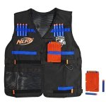 Official Nerf Tactical Vest N-strike Elite Series Includes 2 Six-dart Clips And 12 Nerf Elite Darts For Kids Teens And Adults