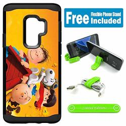 Limited Editions For Galaxy S9 Hybrid Rugged Hard Cover Case - Peanuts Snoopy Together H
