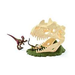 Schleich North America Schleich Large Skull Trap With Velociraptor Toy Figure