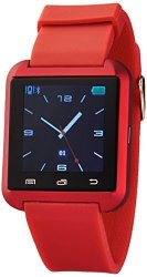 Victory Wireless Bluetooth Smartwatch With Pedometer Red