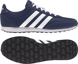 Adidas Mens V Racer 2.0 Running Shoes in Blue Grey