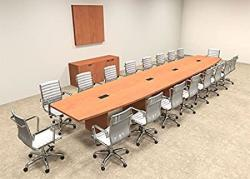Modern Boat Shaped 20' Feet Conference Table OF-CON-C81