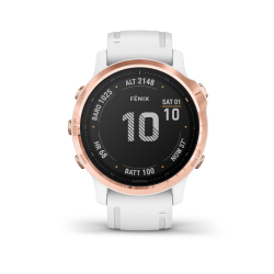 Mac Shack Fnix 6S Pro Multisport Gps Watches - Rose Gold white With White Band