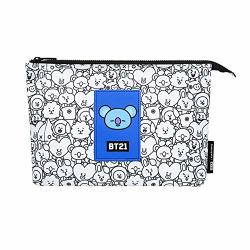 MONOPOLY BT21 Mesh Pouch Cosmetic Bags Portable Travel Toiletry Makeup Organizer Koya