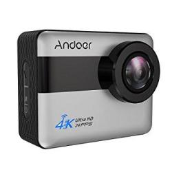 Andoer 4K Wifi Action Camera 2.31-INCH Full HD Lcd Touchscreen With 20MP Novatek 96660 Chipset Suppport Gyroscope Anti-shake 5X Zoom 170 Wide-angle Lens And Waterproof Hard Case