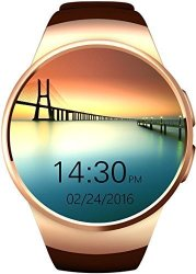 Gpct Bluetooth Android ios Touch Screen Water Resistant Workout sleep heart Rate Monitor Smart Watch For Iphone 7 PLUS 7 6S PLUS 6S 6 5 Galaxy EDGE S6 S5 Htc Sony LG Android- Gold