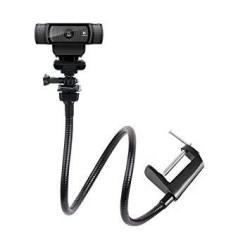 25 Inch Flexible Jaw Long Arm Swivel Clamp Clip Mount Holder Stand For Logitech Webcam C9E C922X C922 C930E C930 C920 C615