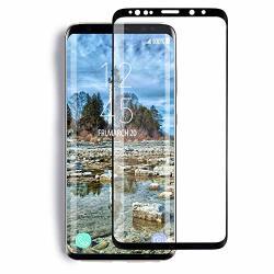 Yrmjk Samsung Galaxy S9 Screen Protector 3D Curved Dot Matrix Full Screen Compatible Samsung Galaxy S9 Tempered Glass Screen Pro