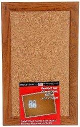 Dooley Deluxe Oak Framed Cork Board 11 X 17 Inches 1117CODE