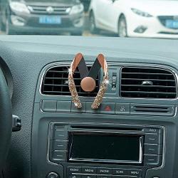 Ur Urlifehall Car Phone Mount Crystal Rhinestone Car Mobile Phone Holder Air Vent Mount Bling Phone Stand Holder Gold