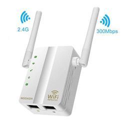 Wifi Repeater Msdada Range Extender 2 4GHZ 300MBPS Double External Antennas  Wireless Booster Wan & Lan Interface Wireless Network Amplifier Extender