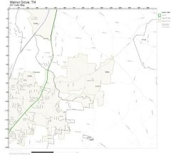 Zip Code Wall Map Of Walnut Grove Tn Zip Code Map Not Laminated