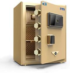 USA Wall Safes Safe Home 45CM Household Safe Office Small Fingerprint Password Box Bedside Anti-theft Cabinet Cabinet Safes Color : Gold Size : 403345CM