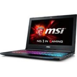 MSI GS60-6QE-052ZA Ghost Pro 15.6 Core I7 Gaming Notebook With Bundled Gaming Bag - Intel Core I7-6700HQ 1TB Hdd 16GB RAM Windows 10 Nvidia