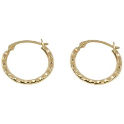 BONDED GOLD - 2MM Round 15MM Id Hoop Dc