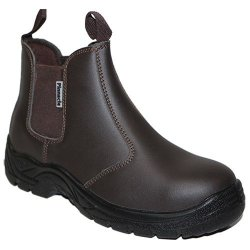 Pinnacle Welding & Safety Austra Chelsea Brown Safety Boots SIZE-5