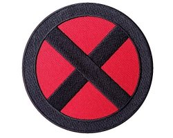 Titan One X-men Storm Red Black Costume Cosplay Patch