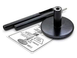 """Craftmemore Grommet Tool Eyelet Punch Setter Anvil And Hole Punch Cutter For Applying 0.16"""" 4 Mm Grommets 0.16"""" 4 Mm"""