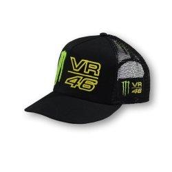 VR46 Valentino Rossi Monster Energy Trucker Flat Peak Cap  b5bfe077823