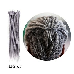 Prodoo Deep Grey Color Soft Faux Locs Full Handmade 20 Inch