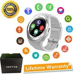Sepver Smart Watch Round Bluetooth Smartwatch With Sim Card Slot Compatible With Samsung LG Sony Htc Huawei Google Xiaomi Androi