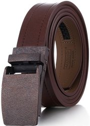 "Casual Ratchet Belt Marino Avenue Genuine Leather belt for Men 1.3//8/"" Wide"