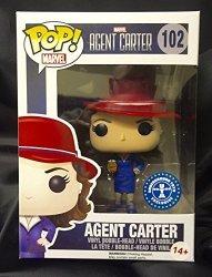 Funko Pop Marvel Agent Carter W gold Orb 102 Exclusive Vinyl Figure