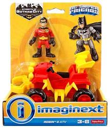 Imaginext Fisher-price Dc Super Friends Streets Of Gotham City Robin & Atv