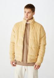 Cotton On Cord Puffer Jacket - Sand