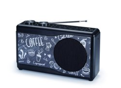 BigBen Interactive Portable Radio - Coffee