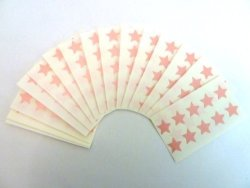 Minilabel 180 Labels 15MM Stars Colour Code Stickers Pink