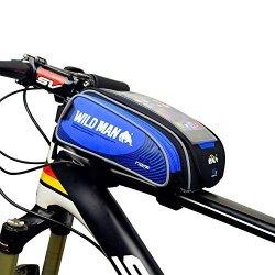 MLD Wildman Bike Bicycle Handlebar Frame Pannier Front Top Tube Bag Pack Rack X Large Waterproof For Iphone 6 6 Plus Samsung Mobile Phone Screen