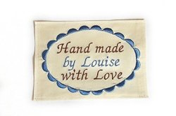 On Sew Quilt Labels Persalized Fabric Labels For Handmade Items E Large Embroidered 4X5 Inch Label