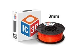 IC3D Orange 3MM Abs 3D Printer Filament - 2.1LB Spool - Dimensional Accuracy + - 0.05MM - Professional Grade 3D Printing Filament - Made In