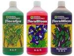 General Hydroponics Flora Series Nutrient Kit 3X 1L - Hard Water