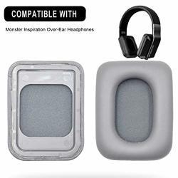 Defean Replacement Inspiration Earpads Foam Ear Pads Cushions Headband For Monster Inspiration Headphones Ear Pads Gray