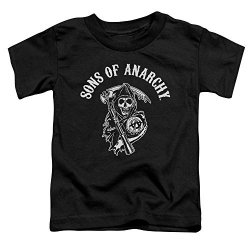 Trevco Sons Of Anarchy Tv Series Soa Reaper Logo White On Black Little Boys Tod Tee