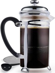 Best French Press Coffee Maker Ultra Fine Filtration 1 Liter 34 Ounce Brews 4 Cups Of Coffee Extra Fine Stainless Steel Filtration Cafetiere Extras Included