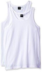 HUGO BOSS Men's Underwear Boss Hugo Boss Men's Tank Top 2P Co el 10194356 01 White Medium
