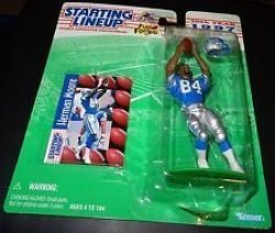 Kenner Herman Moore Detroit Lions 1997 Nfl Starting Lineup Action Figure & Exclusive Nfl Collector Trading Card