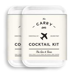 W&p MAS-CARRYKIT-GT-2 Carry On Cocktail Kit Gin And Tonic Travel Kit For Drinks On The Go Craft Cocktails Tsa Approved Pack Of 2