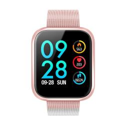 P70 1.3 Inch Ips Color Screen Smartwatch IP68 Waterproof Metal Watchband Support Call Reminder heart Rate Monitoring blood Pressure Monitoring sleep Monitoring blood Oxygen Monitoring Pink