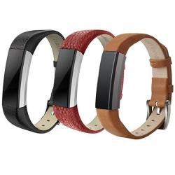 Sailfar Genuine Leather Bands For Fitbit Alta 3 Pack Replacement Strap Wristband For Fitbit Alta Small Large