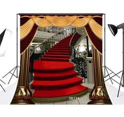 Lb 10X10FT Red Carpet Photography Backdrop Wedding Ceremony Party Stairs Photo Background Vinyl Customized Photo Shoot Studio Props DB774