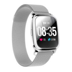 CV06 1.3 Inch Tft Color Screen Steel Watch Strap Smart Bracelet Support Call Reminder Heart Rate Monitoring blood Pressure Monitoring Sleep Monitoring blood Oxygen Monitoring Silver