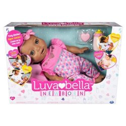 Luvabella Newborn Dark Brown Hair