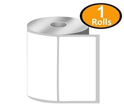 """Betckey - 4"""" X 2.5"""" Shipping & Multipurpose Labels Compatible With Zebra & Rollo Label Printer Premium Adhesive & Perforated 1 Rolls 620 Labels"""